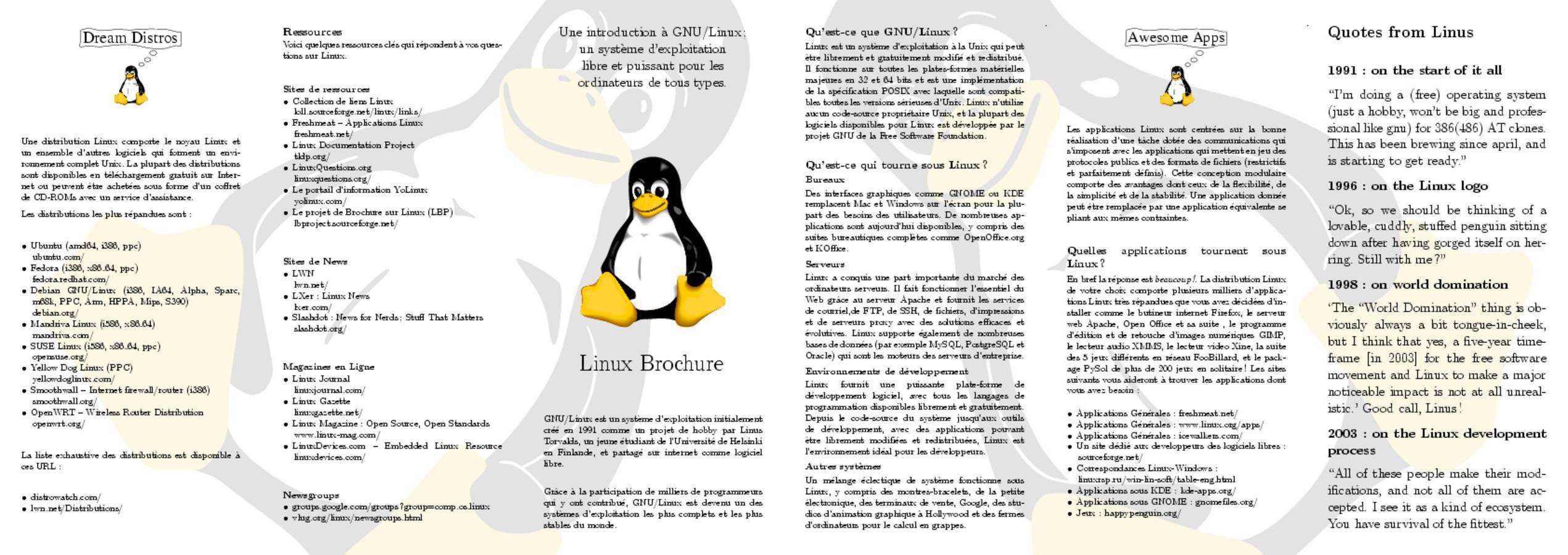 Linux Brochure Project: Examples